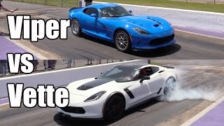 Z06 Corvette vs Viper