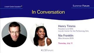 Nia Franklin & Henry Timms in Conversation