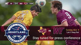 2018 Heartland Conference Final Press Conference: Midwestern State