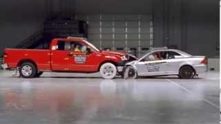 Краш тест машин - Форд Ф150 и Хонда Сивик врезаются друг в друга(Ford F150 and Honda Civic сталкиваются лбами. Краш тест машин - Форд Ф150 и Хонда Сивик врезаются друг в друга. Детали..., 2014-01-04T02:56:37.000Z)