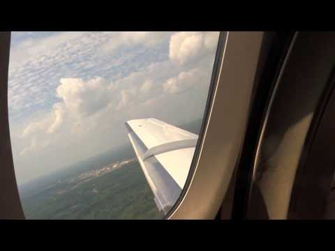 Passenger View Hawker 800 Take Off Landing