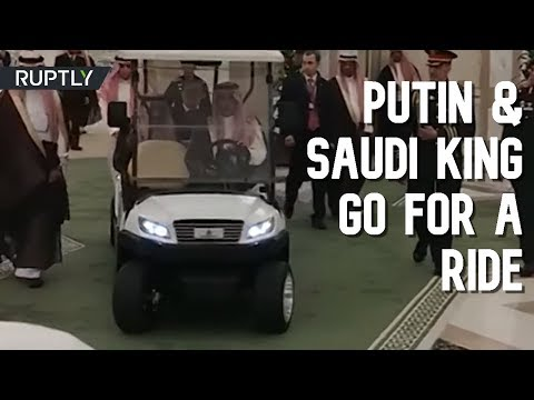 Saudi King takes Putin for a ride around his residence