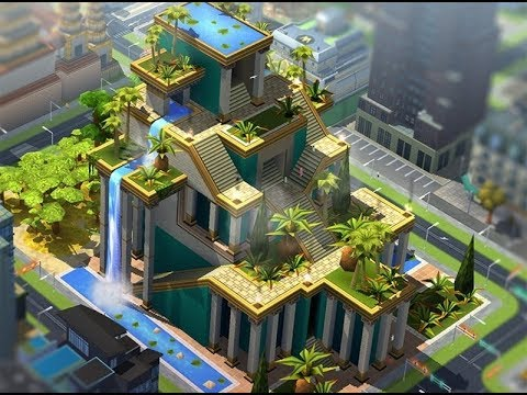 SimCity BuildIt Hanging Gardens of Babylon - YouTube