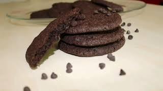 Dışı kıtır içi yumuşacık kakaolu kurabiye /Crispy and softy cocoa cookie- CakeHouse Yabanmersini