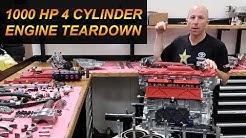 1000 Horsepower 4 Cylinder Engine Teardown Disassembly