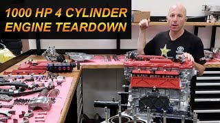 1000 Horsepower 4 Cylinder Engine Teardown Disassembly