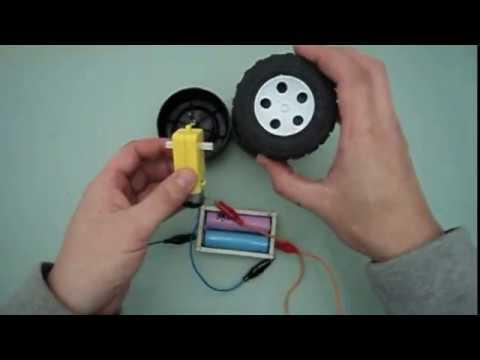 Как установить колёса на мотор- редуктор для ардуино