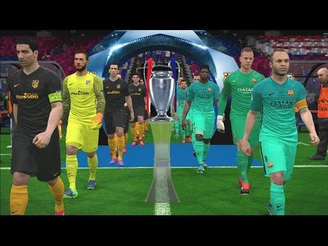 UEFA Champions League Final - Penalty Shootout - Barcelona vs Atletico Madrid - PES 2017 Gameplay