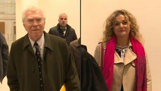 Procès en diffamation: arrivées au tribunal de Pierre Joxe et Ariane Fornia   AFP Images