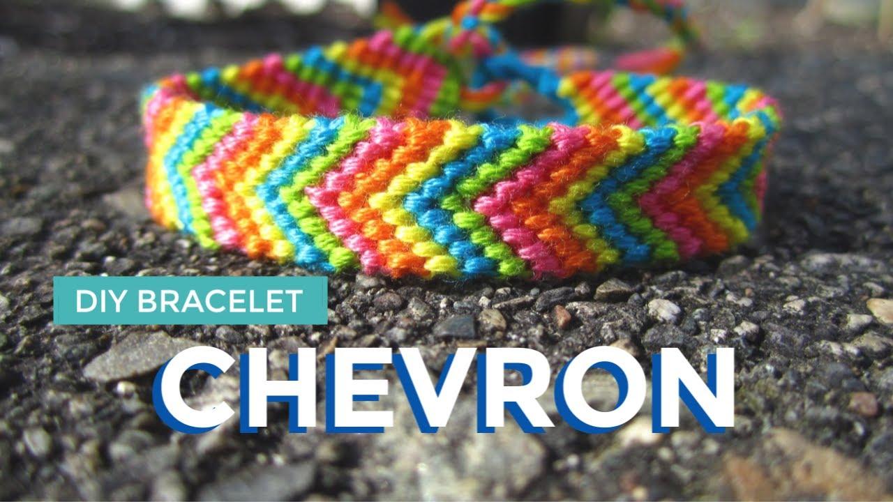 Diy Chevron Friendship Bracelet Easy Friendship Bracelet Diy For Summer Youtube