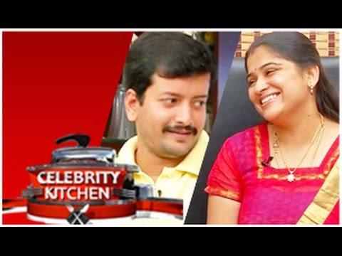 Actor Kaushik Actress Preethi Sanjeev in Celebrity Kitchen (01/02/2015)