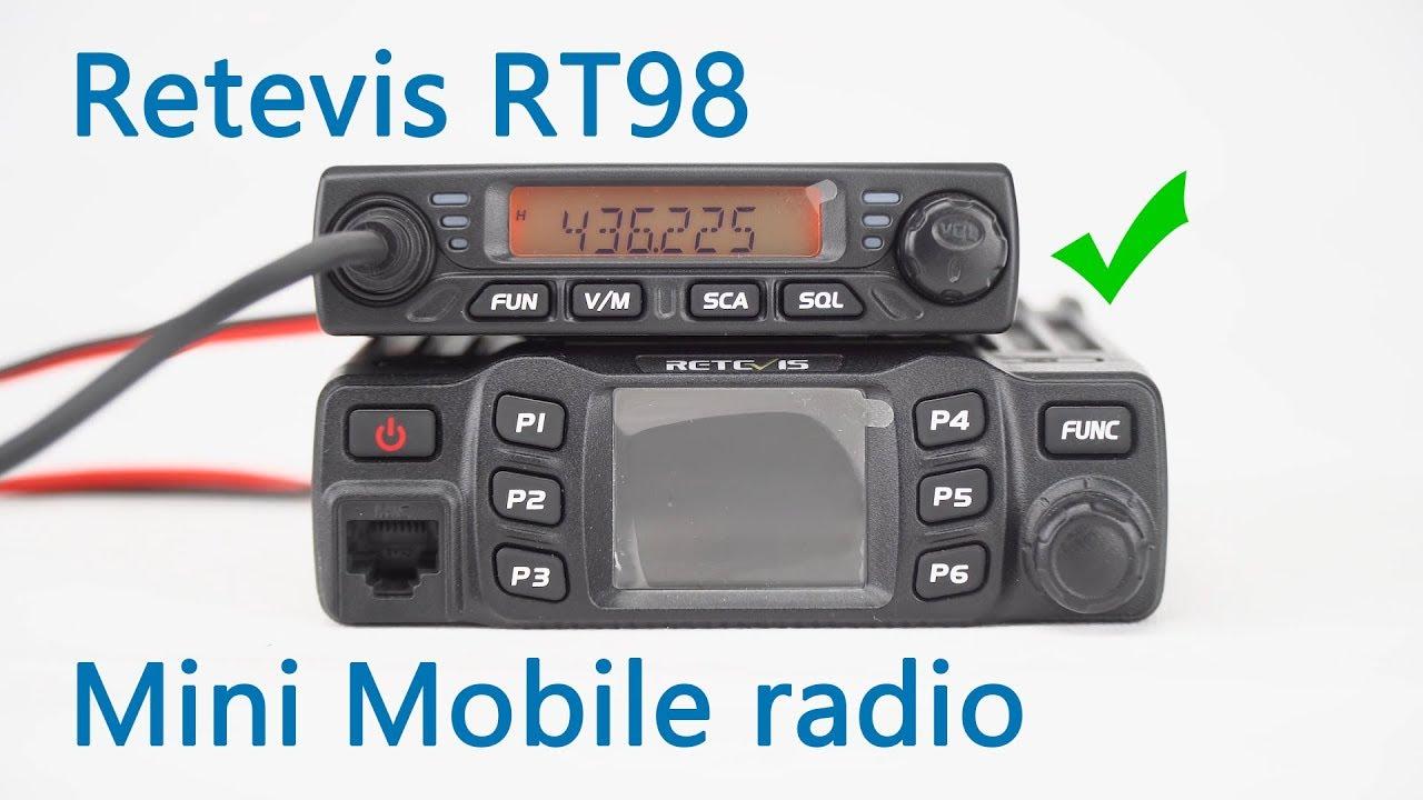 Retevis RT98, the mini mobile radio show on