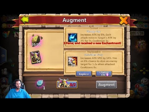 Augmenting Aries Rolling Talents NEED Silencing Shot For RANGE Castle Clash
