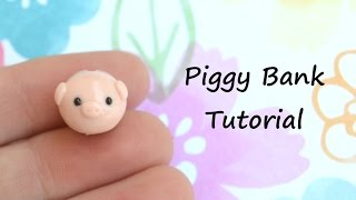 Polymer Clay PIggy Bank Charm Tutorial