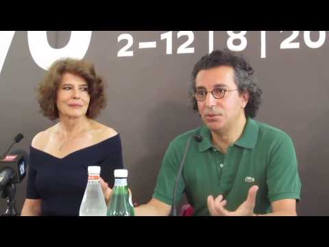 LOLA PATER con Fanny Ardant, Press Conference - Locarno 2017