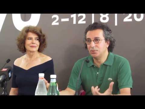 LOLA PATER con Fanny Ardant, Press Conference  Locarno 2017