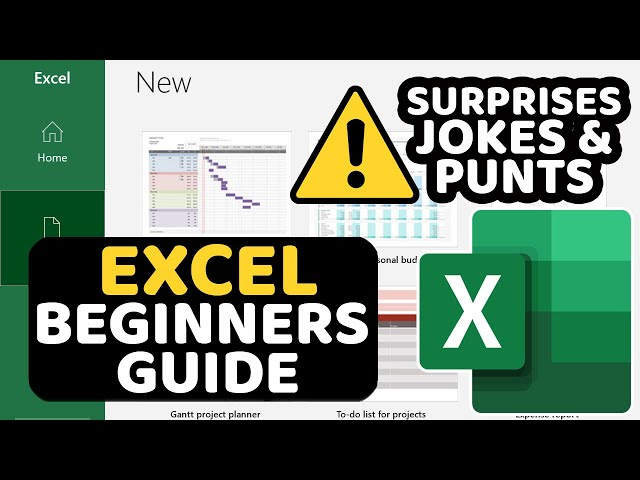 Microsoft Excel Tutorials for Absolute Beginners