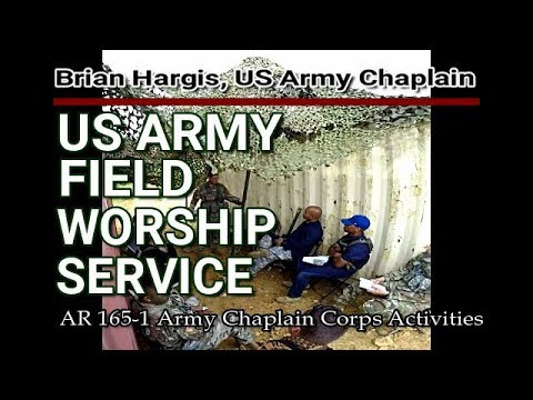 US Army Field Worship Service conducted by Chaplain (1)