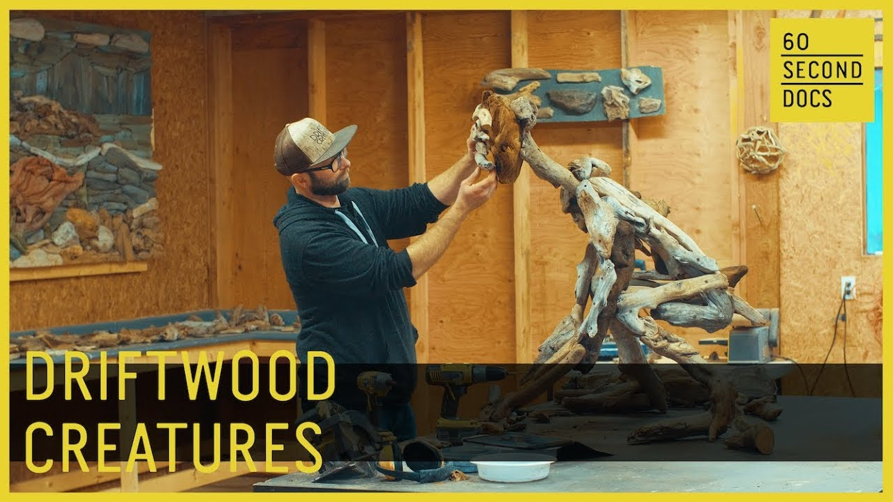 The Man Behind Nature's Driftwood Creatures