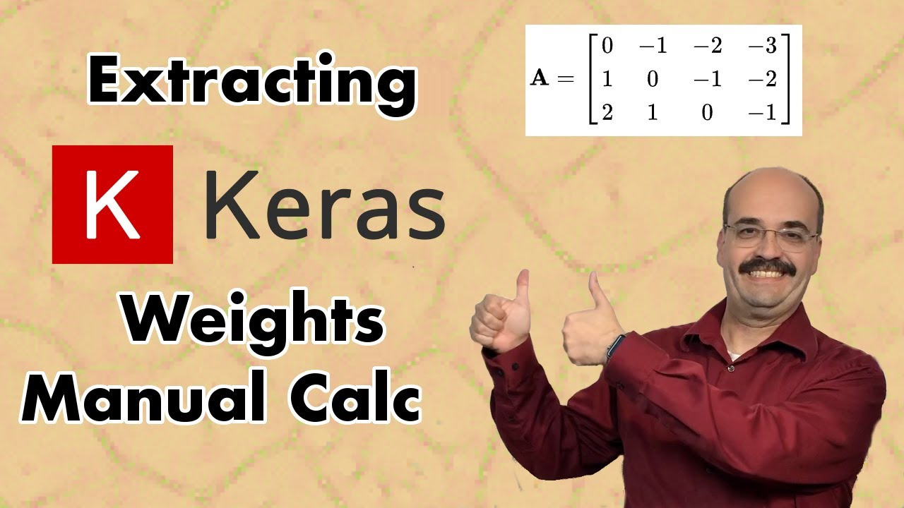 Extracting Keras Weights and Manual Neural Network Calculation