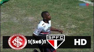 Internacional 1 (5x6) 1 São Paulo - Disputa de Penâltis (COMPLETA) Copa SP 23/01/2018