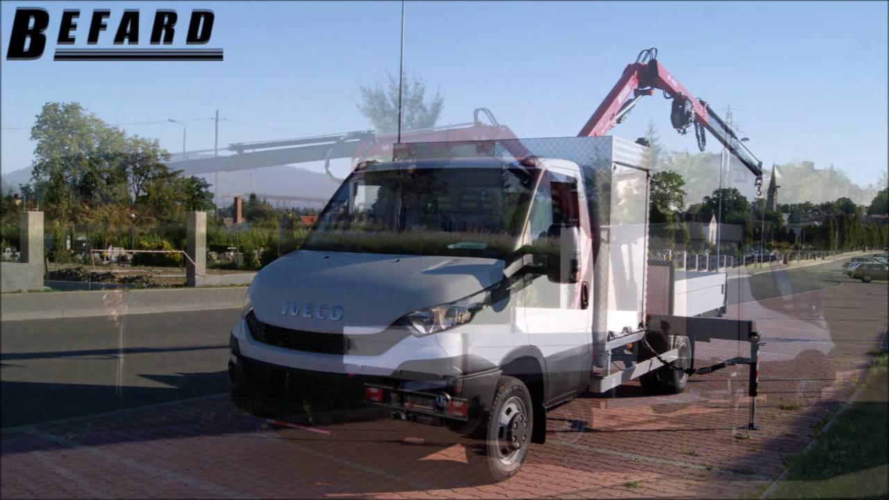 Двама въоръжени кран HDS BEFARD XF 1602 на Iveco Daily