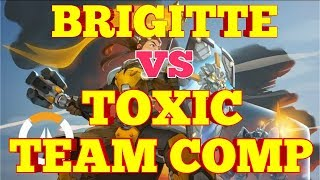 OVERWATCH BRIGITTE VS TOXIC TRASH TALK TEAM PLAYERS. SAME TEAM FIGHT. MUST WATCH. RATED R