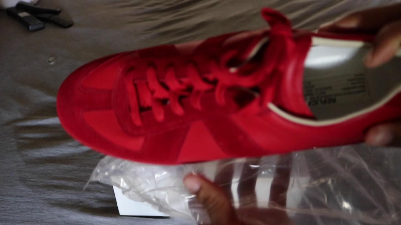 075415529522c Maison Margiela Men s Replica Leather   Suede Low-Top Sneaker - YouTube