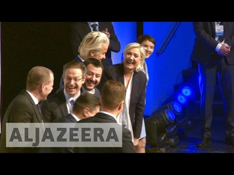 Europe's far-right leaders meet in Germany amid protests