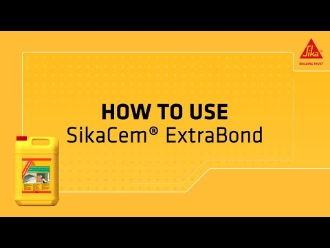 SikaCem® ExtraBond – concrete and mortar adhesive!