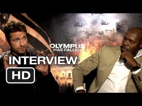 Olympus Has Fallen Interview - Gerard Butler & Anton Fuqua (2013) Movie HD