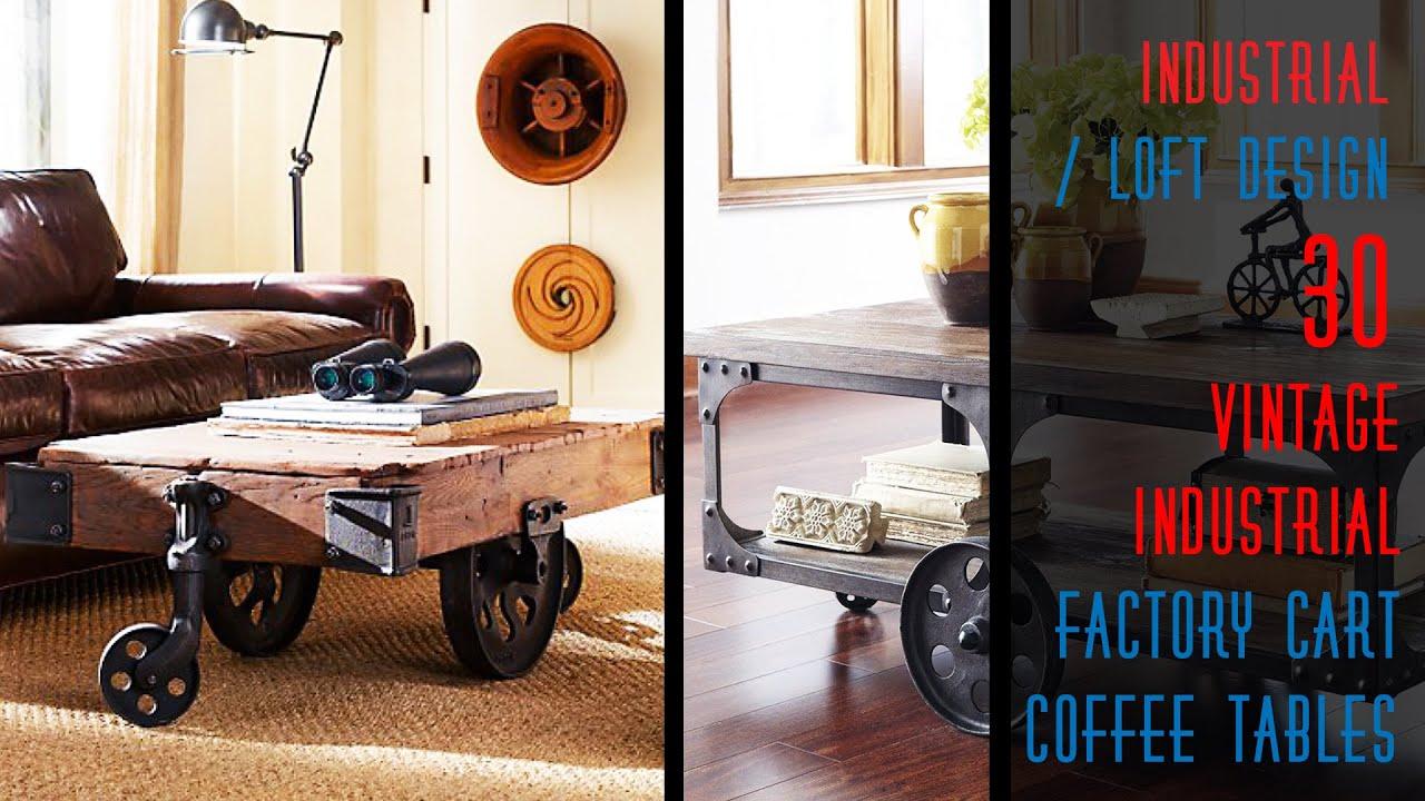 30 diy industrial factory cart coffee table