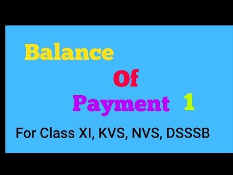 Balance of Payment  1