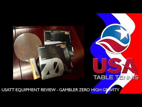 USATT Equipment Review - Gambler Zero Table Tennis Rubber