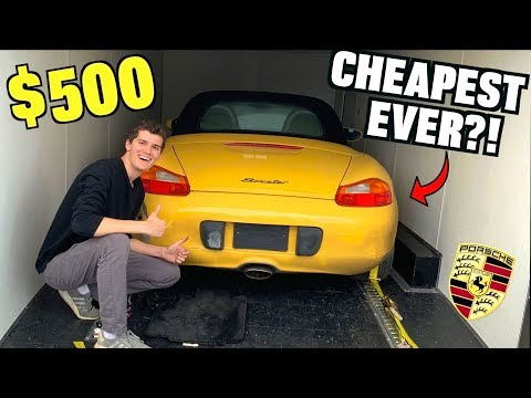 I Bought a TOTALED Porsche For $500 at Salvage Auction SIGHT
