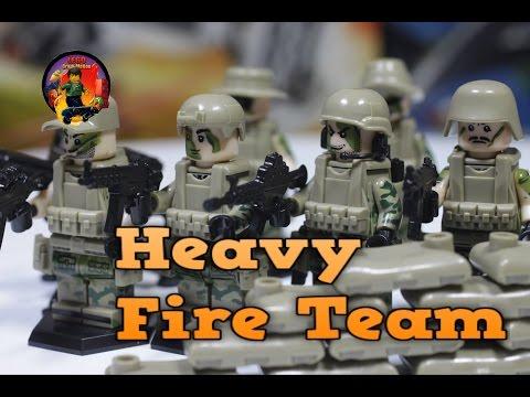 СОВРЕМЕННЫЕ ВОЕННЫЕ фигурки HEAVY FIRE TEAM конструктор совместимый с Лего (ОБЗОР)