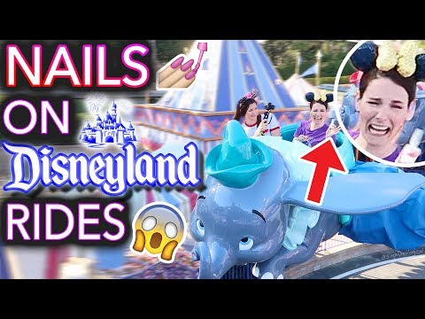 Painting my Nails on Disneyland Rides (don't drop the bottle)