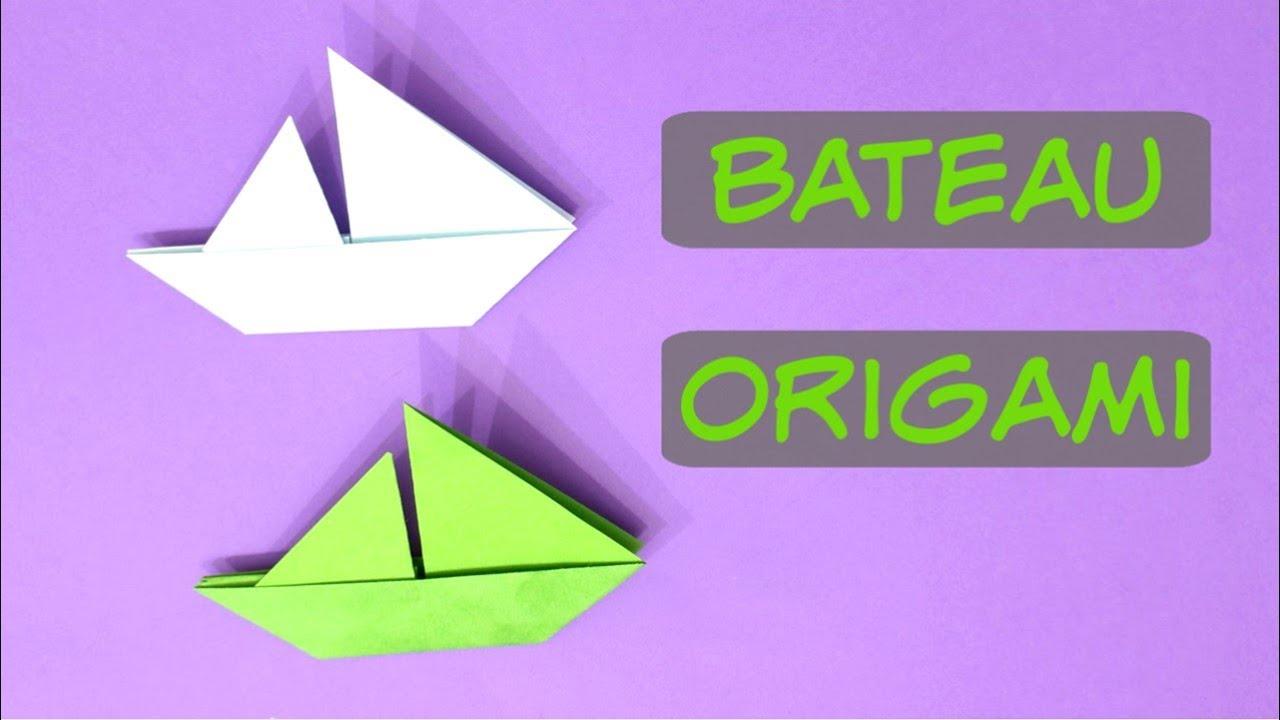 Bateau Voilier En Origami Youtube