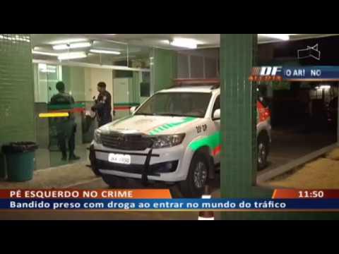 DF ALERTA - Bandido preso com droga ao entrar no mundo do tráfico
