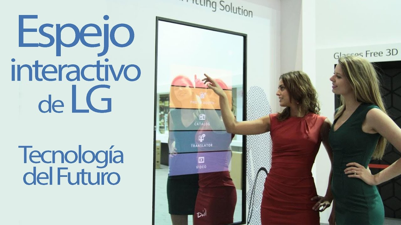 Tecnolog a del futuro un espejo interactivo de lg en el for El rincon del espejo