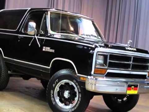 1987 Dodge Ramcharger 100 - Marietta, GA - YouTube