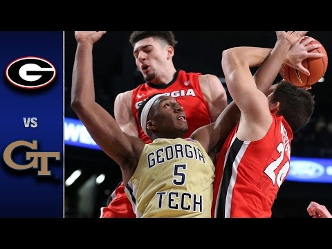 Georgia Tech vs Georgia Men's Basketball Highlights (2016-17)