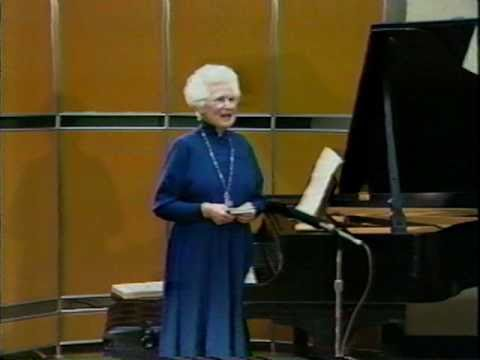VIDEO: The Teaching of Artur Schnabel - Eunice Norton, 1987 (1/18)