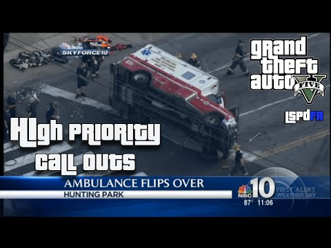 GTA 5 LSPDFR - Ep. 10 - High Priority Call Outs - A F*cking COOL HIGH SPEED PURSUIT!