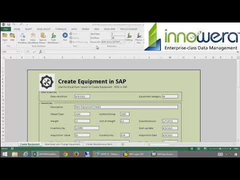 IE01 & IP04 - Create Equipment And Maintenance Item From Excel