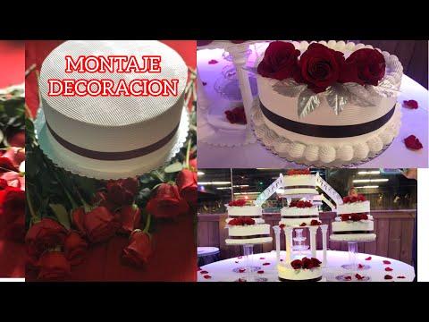 pastel-15-aÑos-color-vino-(burgundy)-decoraciÓn-y-montaje
