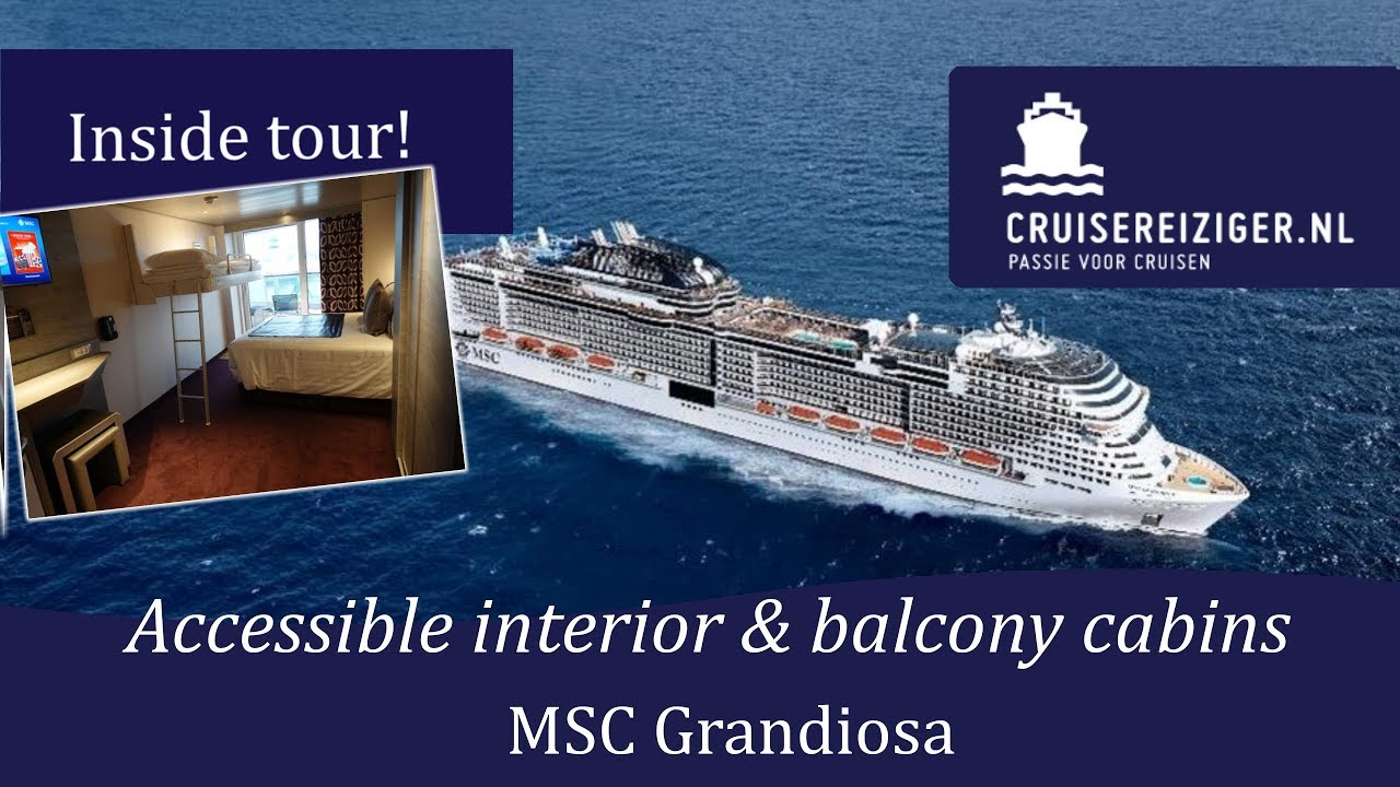 MSC Grandiosa - Tour of accessible cabins - YouTube