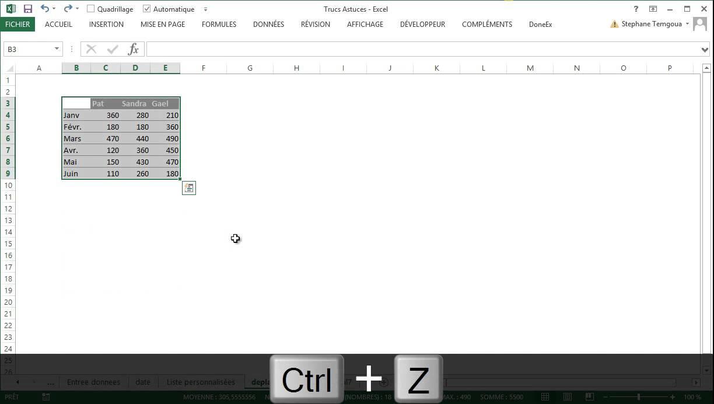 Astuces Excel Deplacer Copier Tableau Youtube