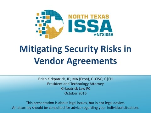 Mitigating Security Risks in Vendor Agreements