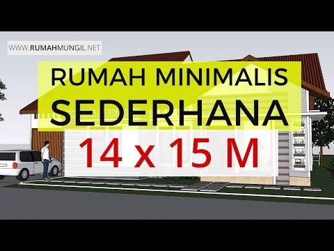 Desain Rumah Minimalis Luas 150m2  rumah minimalis sederhana 14x15 m rumahmungil net youtube